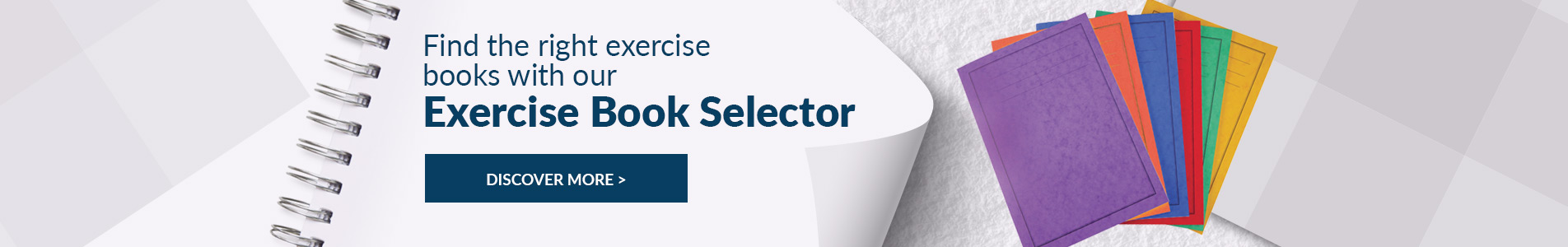Shop wide range of exercise book selector