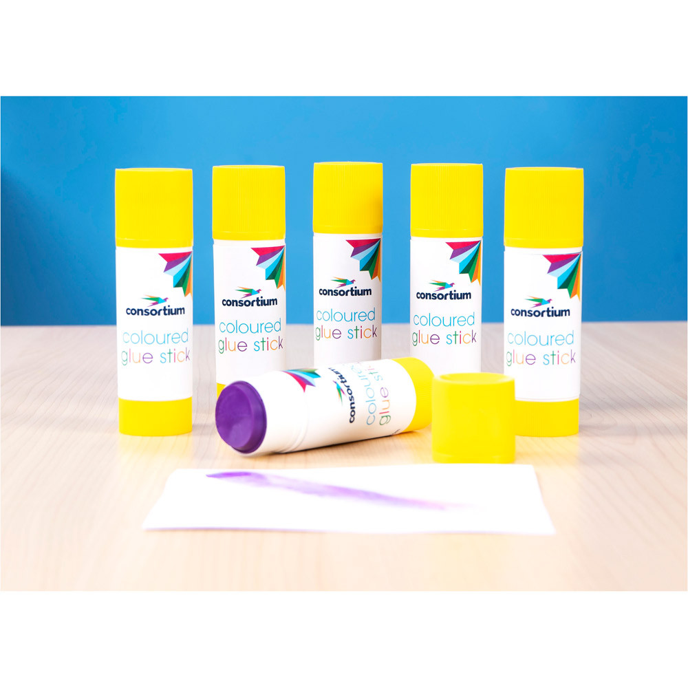 Consortium Coloured Glue Sticks