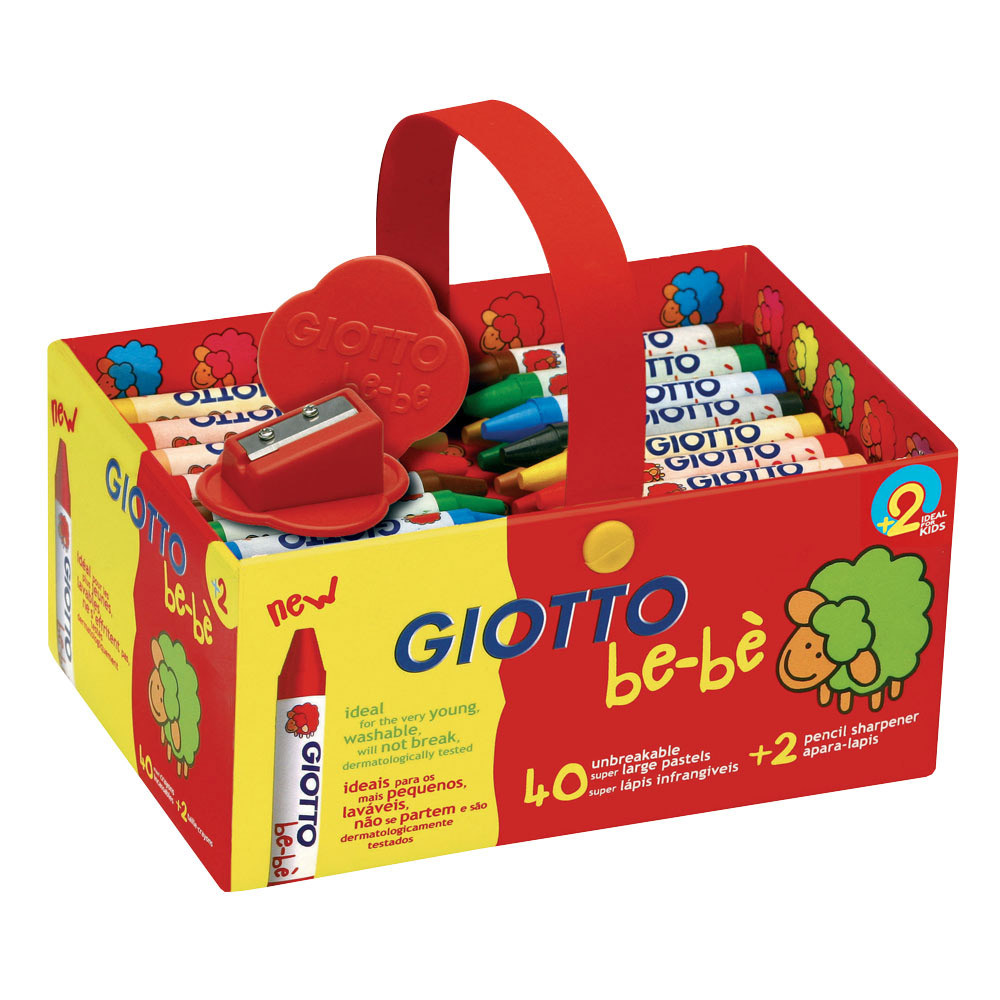 Giotto Be-Be Super Wax Crayons