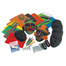 African Mask Kit Classpack