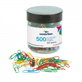 Consortium Multi-Coloured Paper Clips