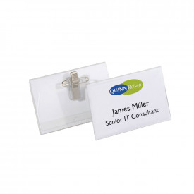 Durable Clear Name Badges