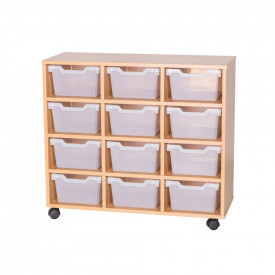 Cubby Tray Storage: 4 Tier with 12 Trays