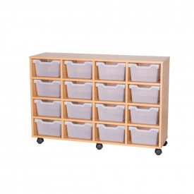 Cubby Tray Storage: 4 Tier with 16 Trays