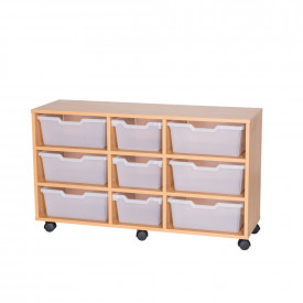 Assorted Cubby Tray Storage: 3 Tier with 9 Trays