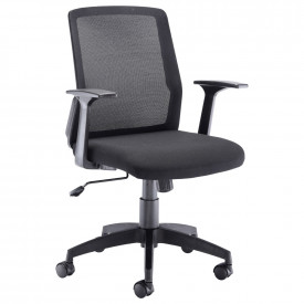 Denali Mid Back Chair - Black Mesh