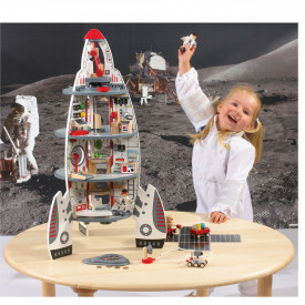 Discovery Spaceship and Lift Off Rocket