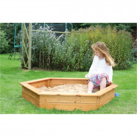 Hexagonal Wooden Sandpit with Lid