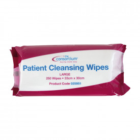 The Consortium Patient Cleansing Wipes Large