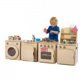 BIG DEAL Natural Wooden Kitchen Set