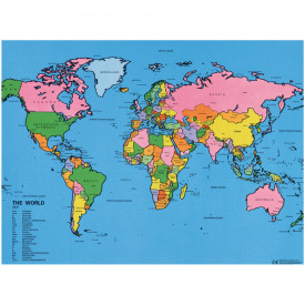 Drywipe Map of the World