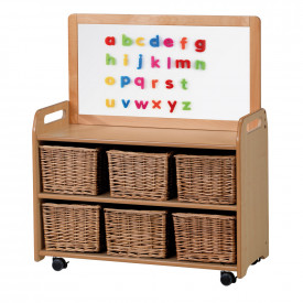 Mobile Magnetic Whiteboard Storage Unit
