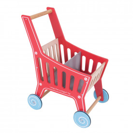 Wooden Supermarket Trolley