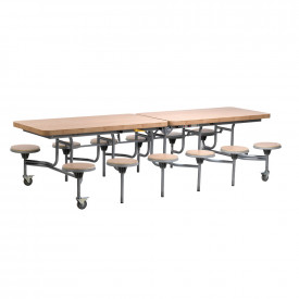 Primo Contemporary Design Mobile Folding Dining Table