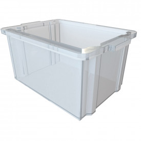 Set of 6 Clear Tubs