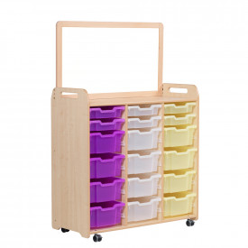 Triple Column Storage with Display Top Divider