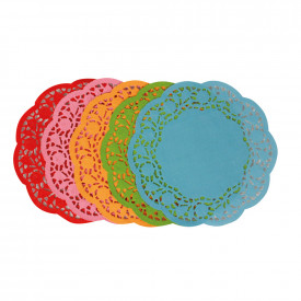 Coloured Doilies