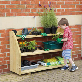 Outdoor Wooden Shelving Unit