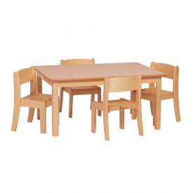 Small Rectangular Table & Chairs