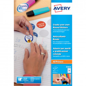 Avery Round Reward Stickers