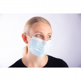 Non-Woven 3 Ply Type IIr Disposable Face Masks