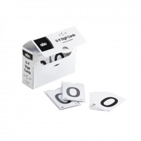 0-9 Digit Cards 18 Pack with Storage Box
