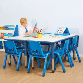 Valencia Rectangular 6 Seater Table Blue