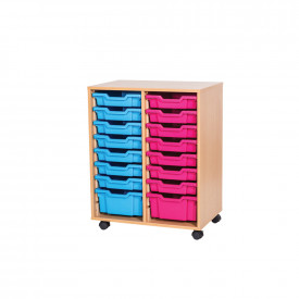 Mobile Double Tray Unit