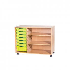 Mobile Tray and Shelf Unit