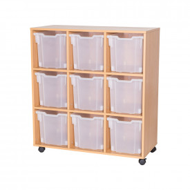Mobile 9 Jumbo Tray Unit - Without Trays