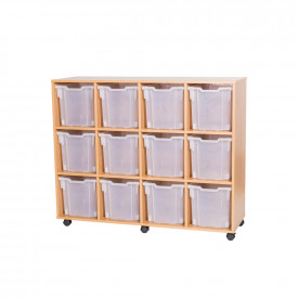 Mobile 12 Jumbo Tray Unit - Without Trays