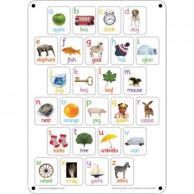 A2 Outdoor Picture Alphabet Board