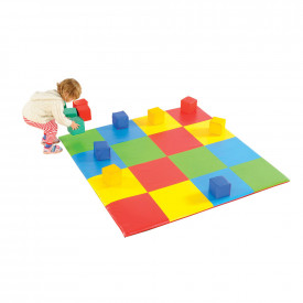 Multi-Coloured Square Mat and Blocks