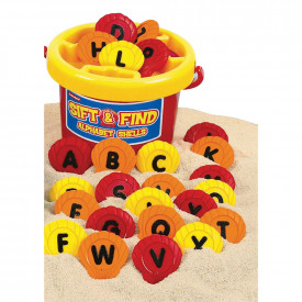 Sift and Find Alphabet Shells