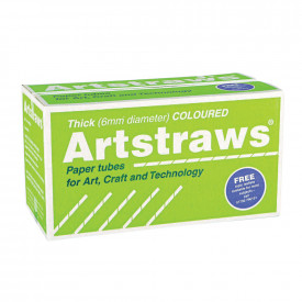 Jumbo Coloured Artstraws