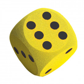 Soft Foam Yellow Dice