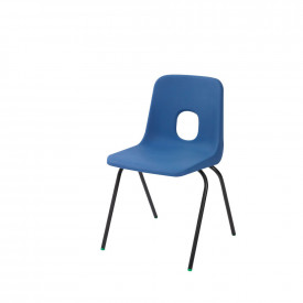 Blue and Red Hille Series E Standard Shell Chairs