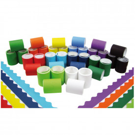 Fadeless® Card Scalloped Border Assortment Rolls