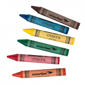 Budget Essentials Jumbo Wax Crayons