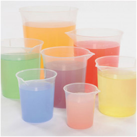 Plastic Graduated Beaker Set