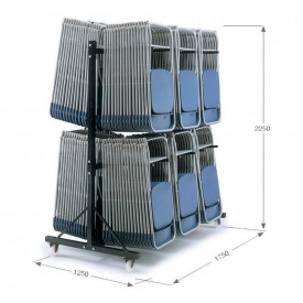 3 Column High Hanging Storage Trolley